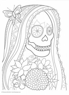Dibujos para colorear el día de los muertos (8)