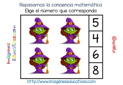 Fichas números 1-20 Halloween (1)