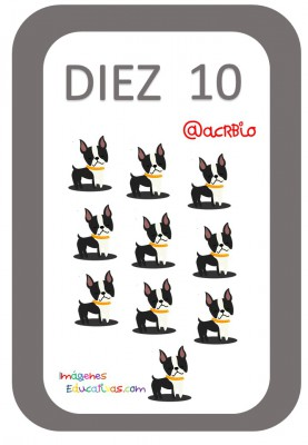 Tarjetas Números Perritos Imagenes Educativas (10)