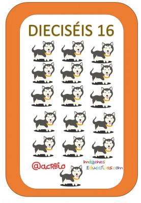 Tarjetas Números Perritos Imagenes Educativas (16)