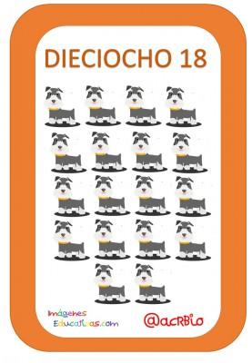 Tarjetas Números Perritos Imagenes Educativas (18)