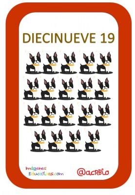 Tarjetas Números Perritos Imagenes Educativas (19)
