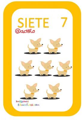 Tarjetas Números Perritos Imagenes Educativas (7)