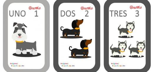 Tarjetas Números Perritos Imagenes Educativas Portada
