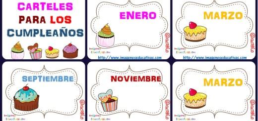 Carteles Y Tarjetas De Feliz Cumpleaños Para Colorear: Carteles Cumpleaños Imprimibles: Plantillas Rincón Del