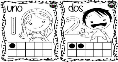 Tarjetas números para colorear Portada