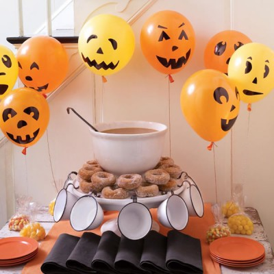 "ideas para decorar con globos para niños ""Halloween"" (24)"
