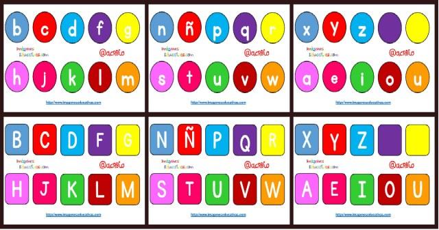 Súper Poster Con Abecedario Minúsculas Y Mayúsculas Diferentes Formatos Y Tipos De Letras Imagenes Educativas