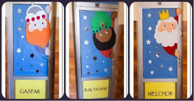 Nuevas puertas navide as para decorar nuestras clases y for Puertas decoradas santa claus
