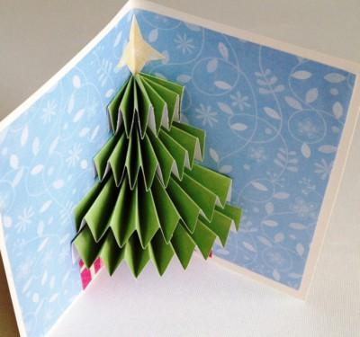 Como hacer tarjeta de navidad 3d