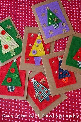Tarjetas de Navidad Con Botones (11)