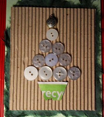 Tarjetas de Navidad Con Botones (12)