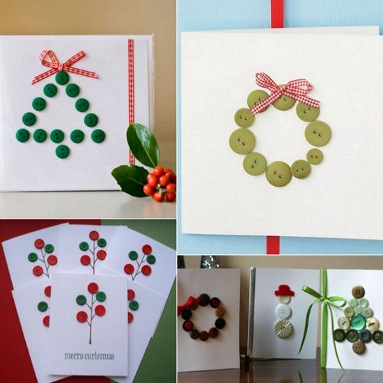 Tarjetas de navidad con botones 21 imagenes educativas - Como hacer tarjetas de navidad faciles ...