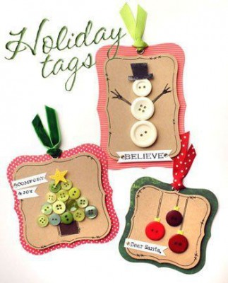 Tarjetas de Navidad Con Botones (6)