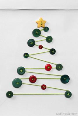 Tarjetas de Navidad Con Botones (7)