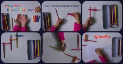 Truco enseñar a coger el lápiz correctamente Portada..