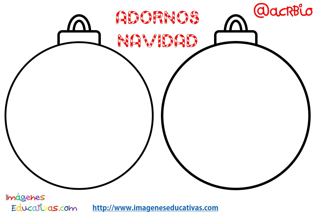 Dibujos Para Colorear Navidenos Imprimir: Dibujos De Bolas De Navidad Para Colorear E Imprimir