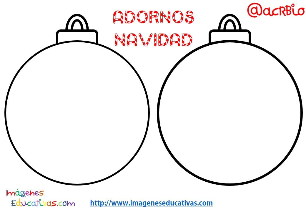 Bolas de navidad colorear (1) - Imagenes Educativas