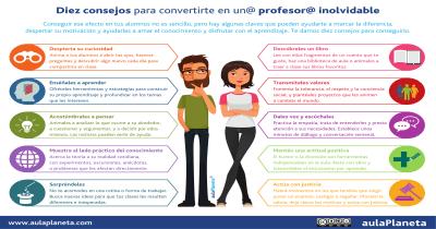 Diez consejos para convertirte en un profesor inolvidable Portada