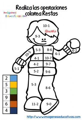 Fichas colorear sumas y restas (4)