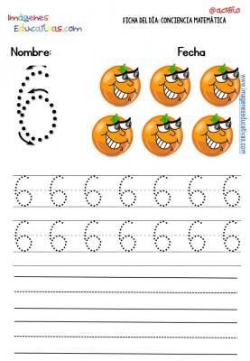 Fichas para trabajar los números (6)