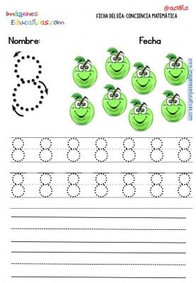 Fichas para trabajar los números (8)