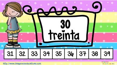 Los números tarjetas para repasar (4)