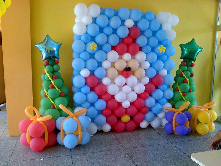 Navidad globos decoracion 2 imagenes educativas - Decoracion navidad para ninos ...