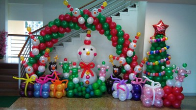 Navidad Globos decoracion (9)