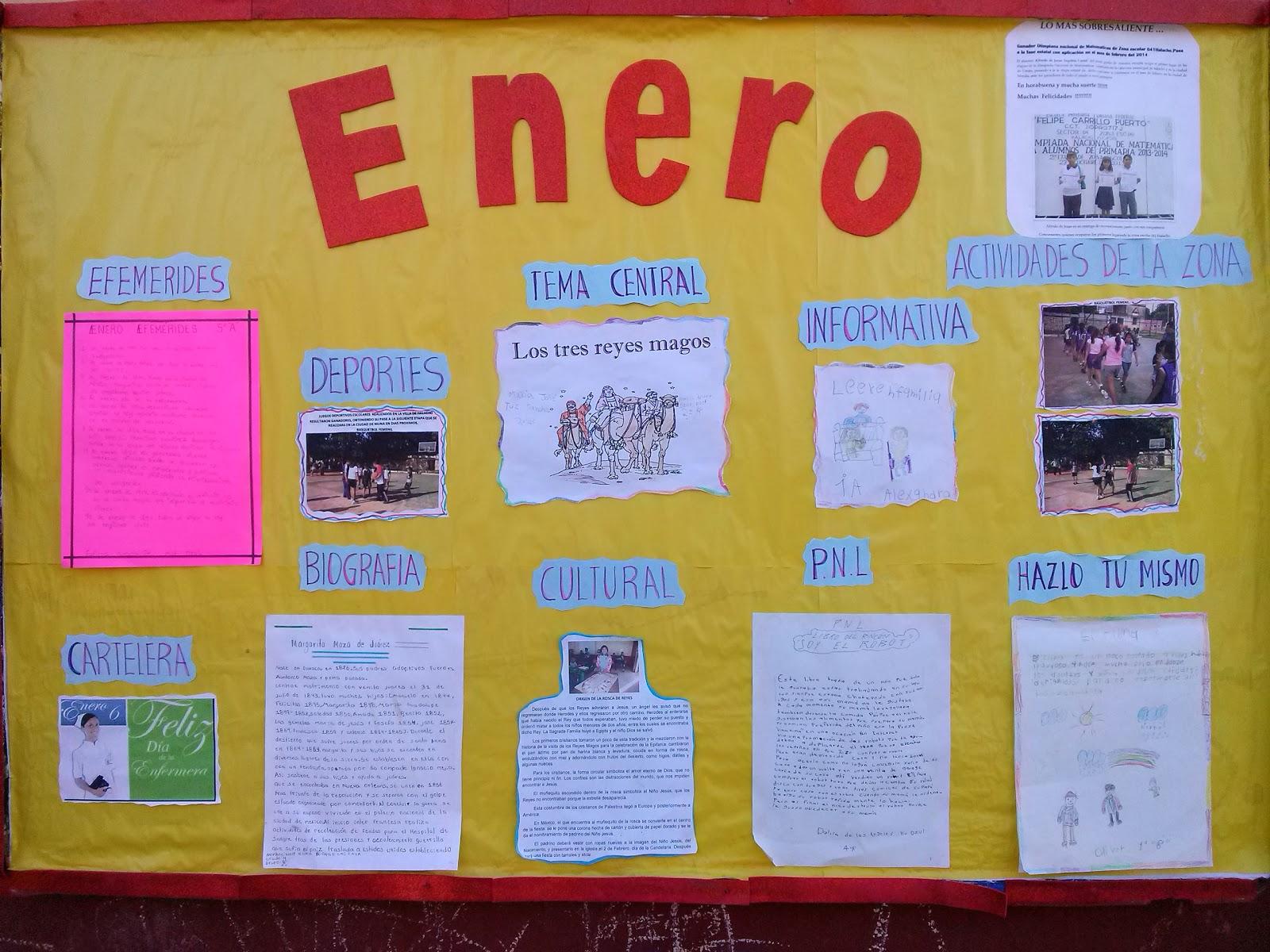 Periodico mura enero 1 imagenes educativas for Estructura de un periodico mural