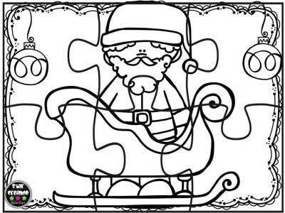 Puzzles de navidad para colorear imprimir recortar for Adornos navidenos para colorear y recortar