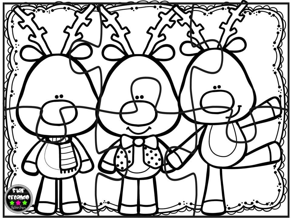 Puzzles navidad para colorear (7) - Imagenes Educativas