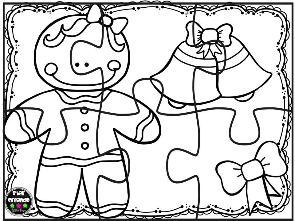 Imágenes Para Colorear De Dibujos De Navidad: Puzzles Navidad Para Colorear (8)