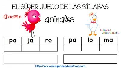 Super juego practicamos la descomposición en sílabas (11)