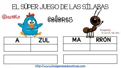 Super juego practicamos la descomposición en sílabas (4)