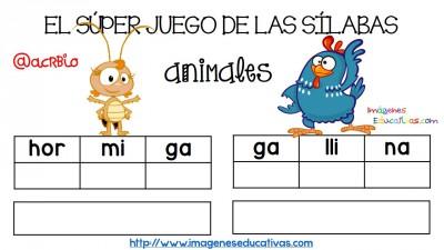 Super juego practicamos la descomposición en sílabas (7)