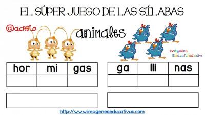 Super juego practicamos la descomposición en sílabas (9)