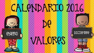 Calendario Valores y planificador 2016 IMAGENES EDUCATIVAS (1)