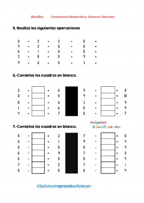 Ejercicios múltiples con números enteros (26)