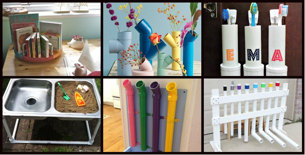 50 manualidades con tubos de pvc para casa y para clase - La casa de las manualidades ...