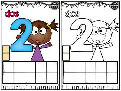 Repasamos los números y nos divertimos coloreando (3)