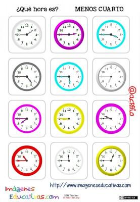 fichas de relojes analógicos. (10)