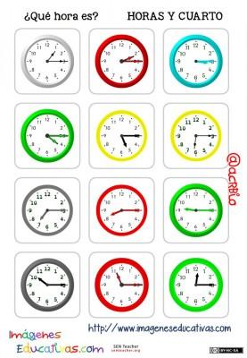 fichas de relojes analógicos. (8)