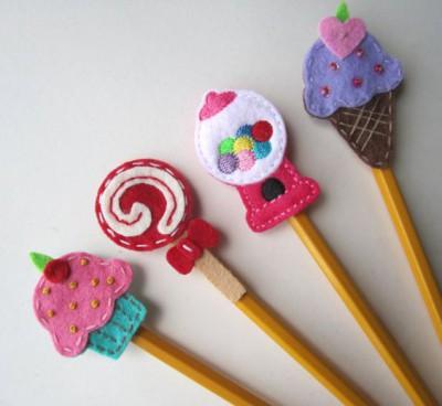 Adornos para lápices manualidades  Diy  (10)