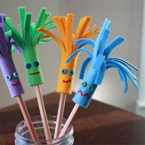 Adornos para lápices manualidades  Diy  (15)