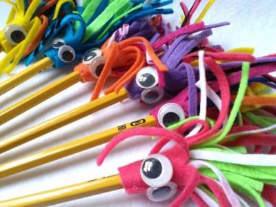 Adornos para lápices manualidades  Diy  (6)