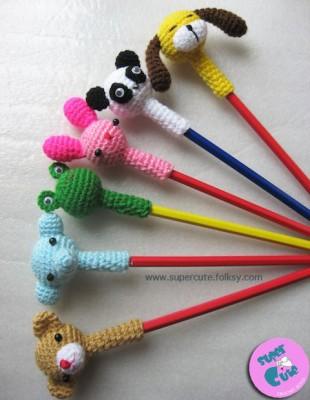 Adornos para lápices manualidades  Diy  (9)