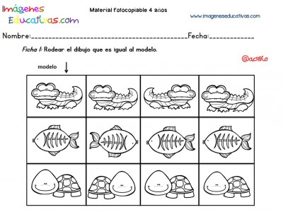 Cuadernillo complementario para 4 años, Educación Preescolar (1)