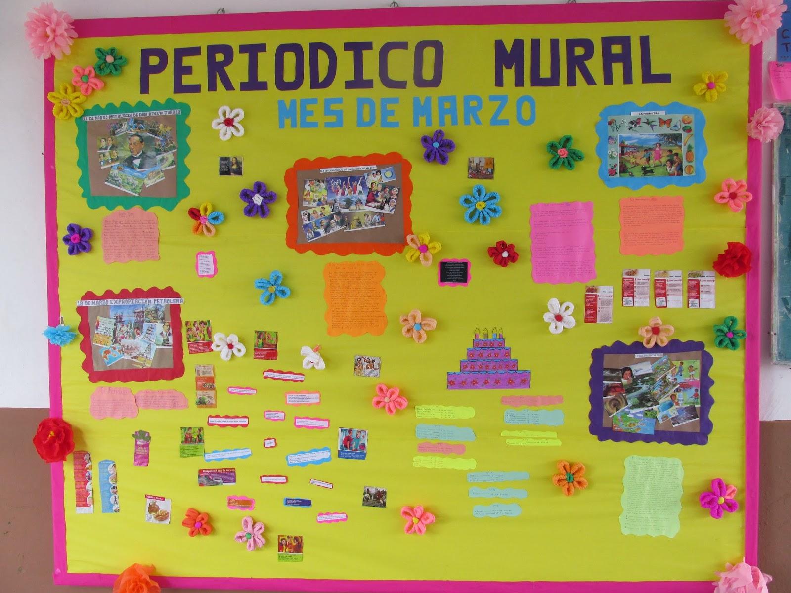 Peri dico mural marzo 7 imagenes educativas for Como elaborar un periodico mural escolar