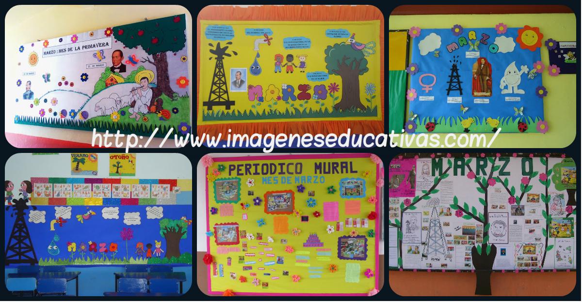 Periódico mural marzo Portada – Imagenes Educativas